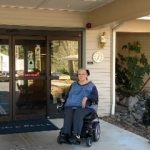 Resident Diane Cadonau Outside Canfield Place
