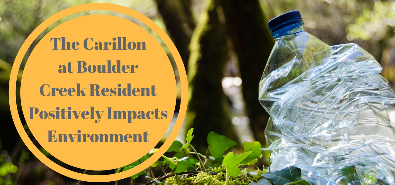 The Carillon at Boulder Creek Resident Positively Impacts Environment