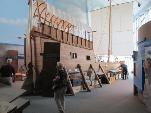 Boat replica at Lewis & Clark Historical Site