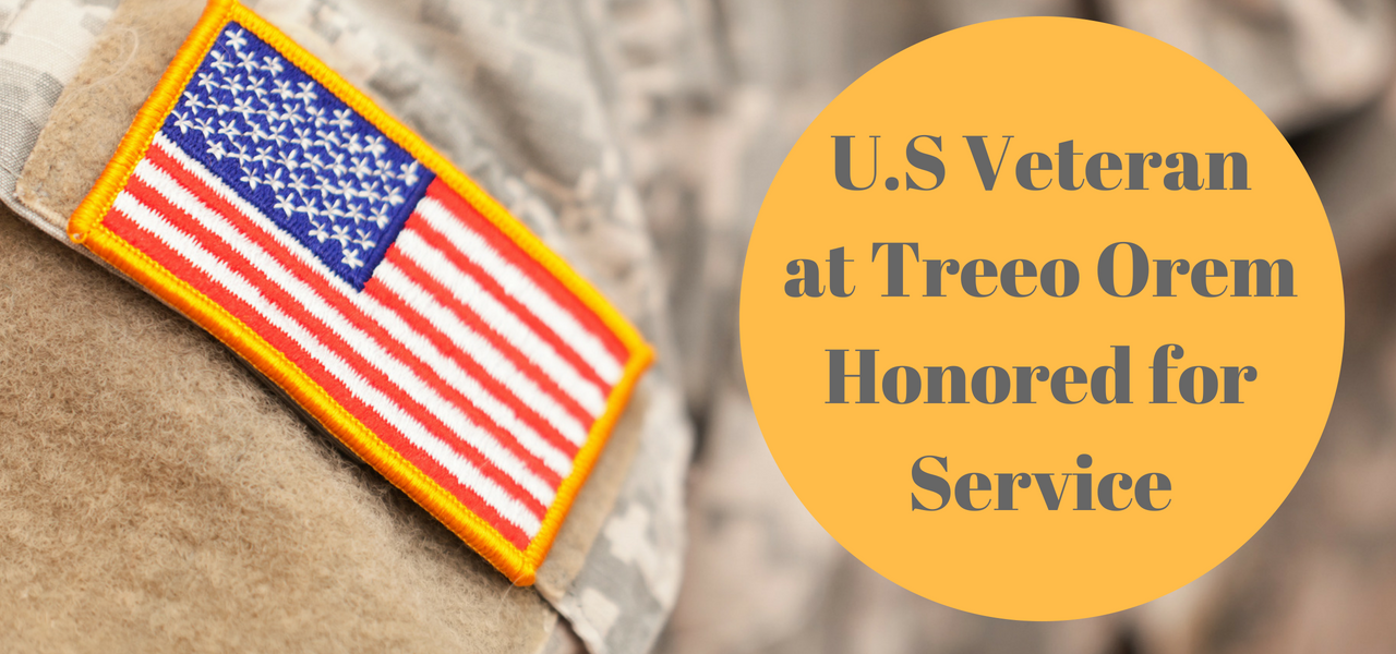 U.S. Veteran at Treeo Orem Honored for Service