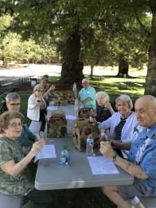 Canfield Place residents at wine tasting