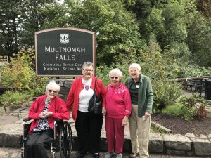 Canfield Place residents at Multnomah Falls
