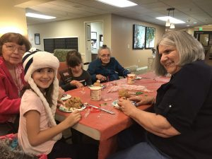 Girl Scouts Decorate Gingerbread Houses at Canfield Place