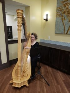 Harpist at Champagne Brunch