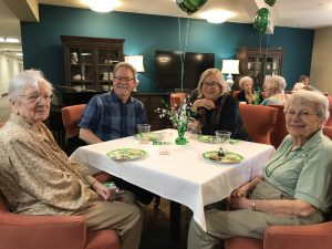 Staff and Residents at St. Patrick's Day Party