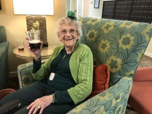 Canfield Place Resident Tasting Irish Beer