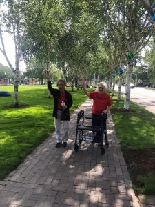 Canfield Place residents walking for better health