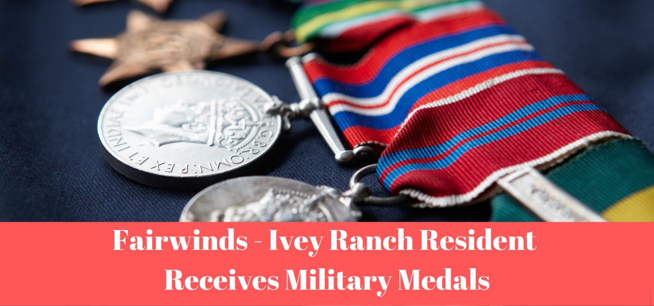 Fairwinds - Ivey Ranch Resident Receives Military Medals