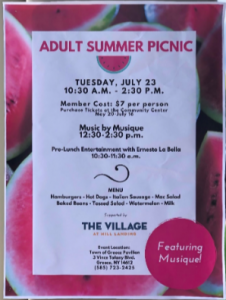 The Village at Mill Landing Picnic Flyer