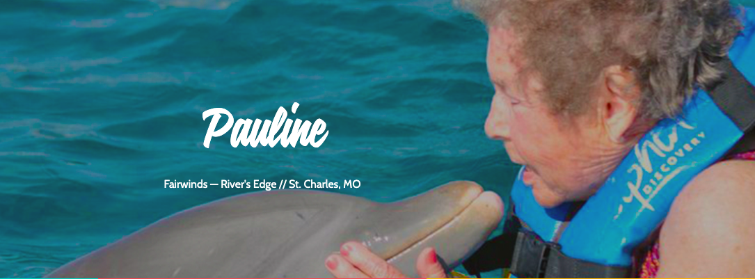 Pauline Swimming with Dolphins with Leisure Care