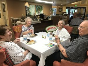 Residents at Canfield Place Oktoberfest