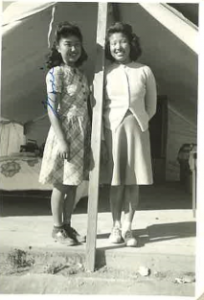 Author and her sister at Japanese Internment Camp
