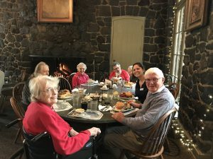 Canfield Place residents at lunch