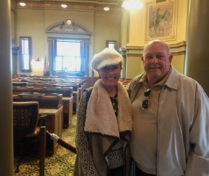 Residents at Wyoming State Capitol