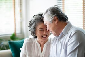 Happy couple in independent living