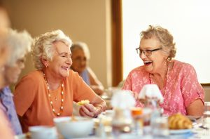 Tea time in assisted living