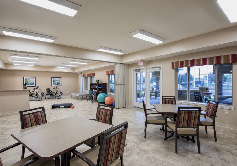 Activity Room at The Linden