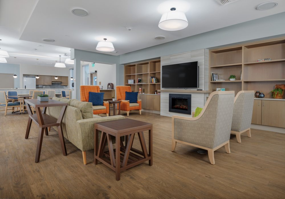 Memory Care Fireside Room at The Ackerly at Sherwood