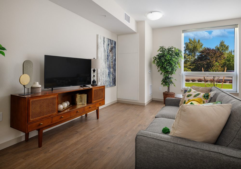 Memory Care Living Room at The Ackerly at Sherwood