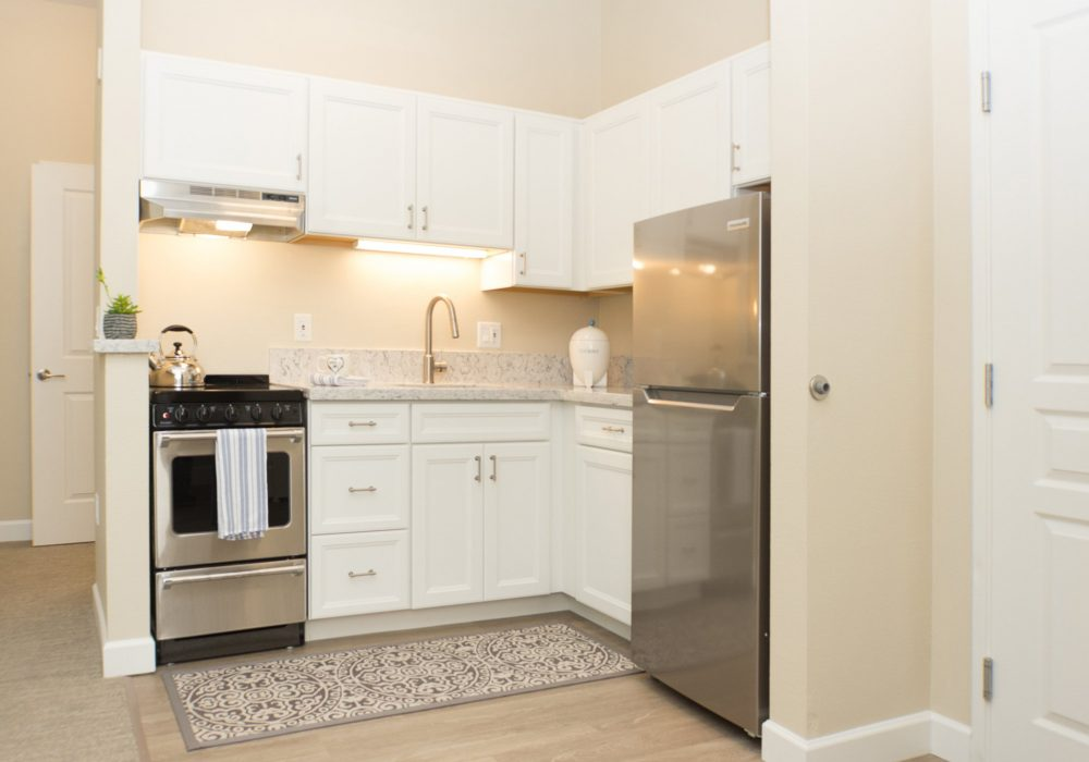 Model Apartment Kitchen - Fairwinds - Ivey Ranch Retirement Community