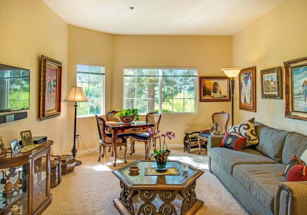 Living Room - Fairwinds - West Hills Senior Apartments
