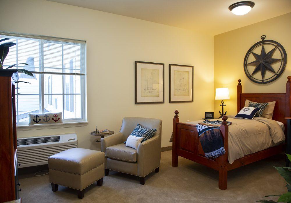 The Landing of Washington Square Model Bedroom