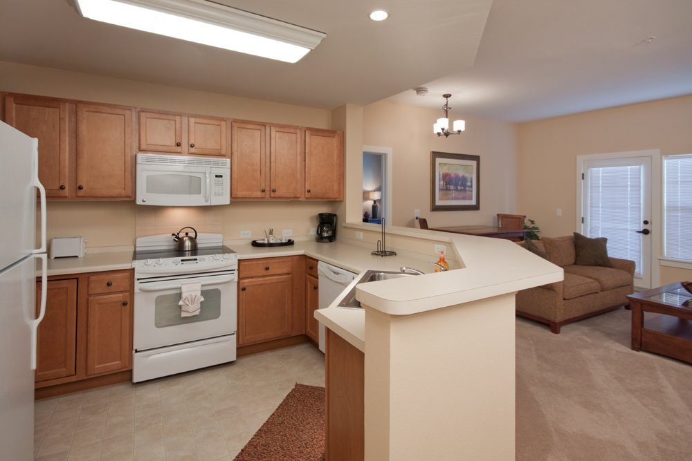 Kitchen - MacKenzie Place Senior Apartments Colorado Springs
