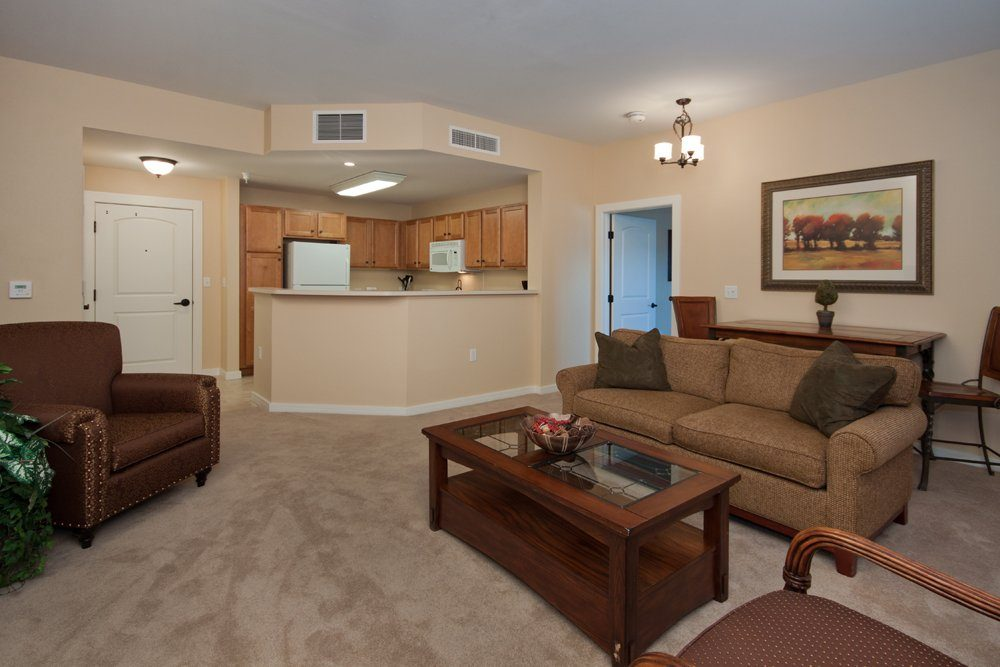 Living Room - MacKenzie Place Senior Apartments Colorado Springs
