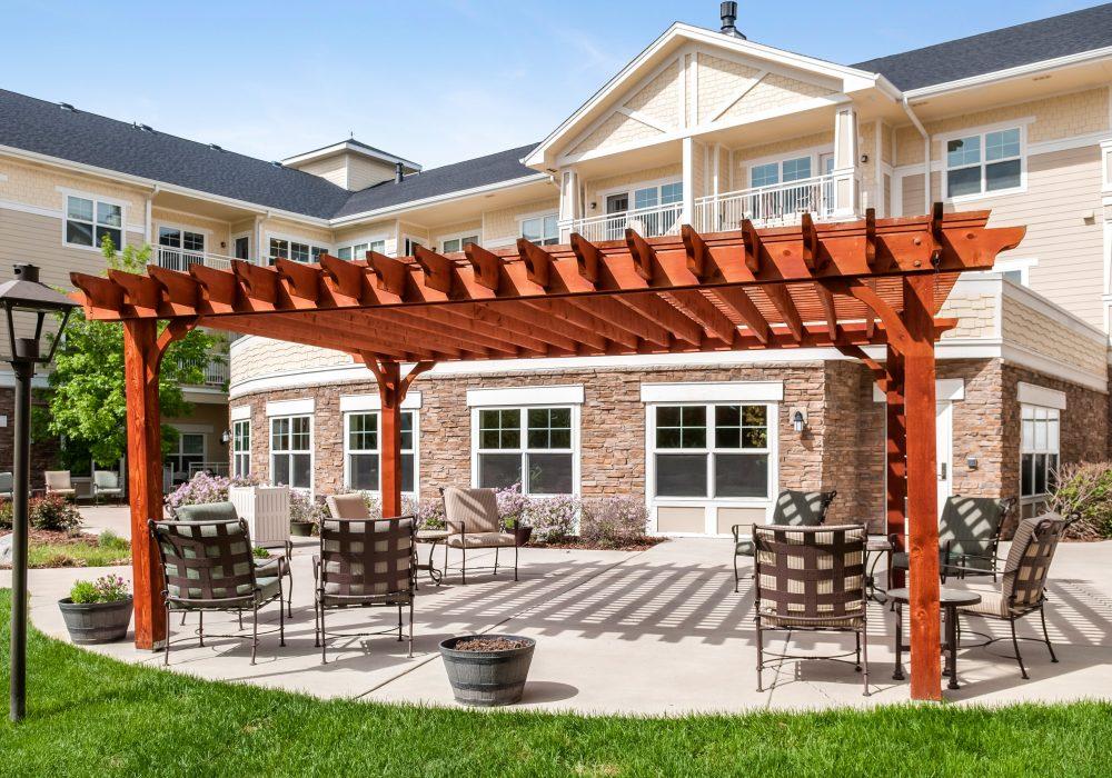Patio - MacKenzie Place Retirement Community Fort Collins