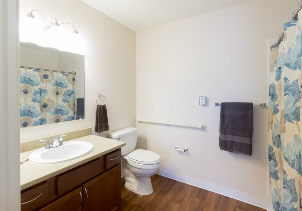 Apartment Bathroom - Markham House Senior Living