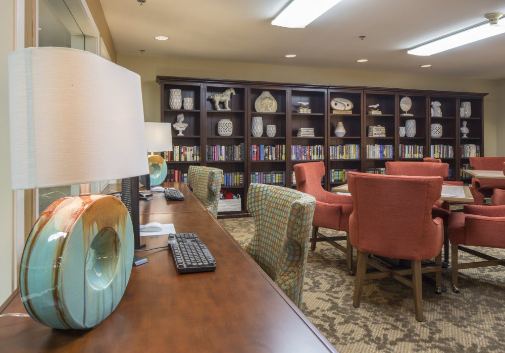 Library - Markham House Senior Living