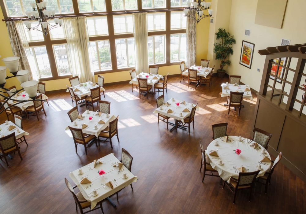 Dining Room from Above at The Village at Mill Landing