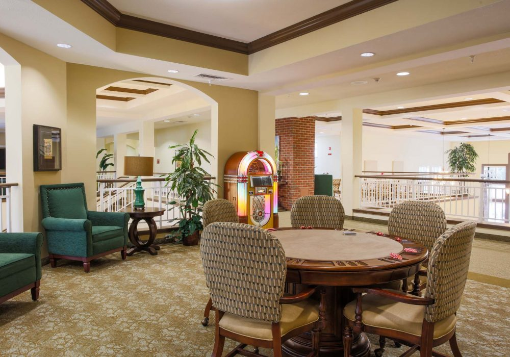 Activity Room and Jukebox at The Village at Mill Landing