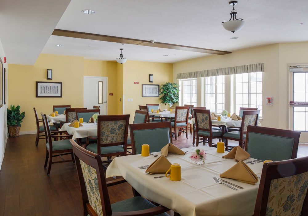 Memory Care Dining Room at The Village at Mill Landing