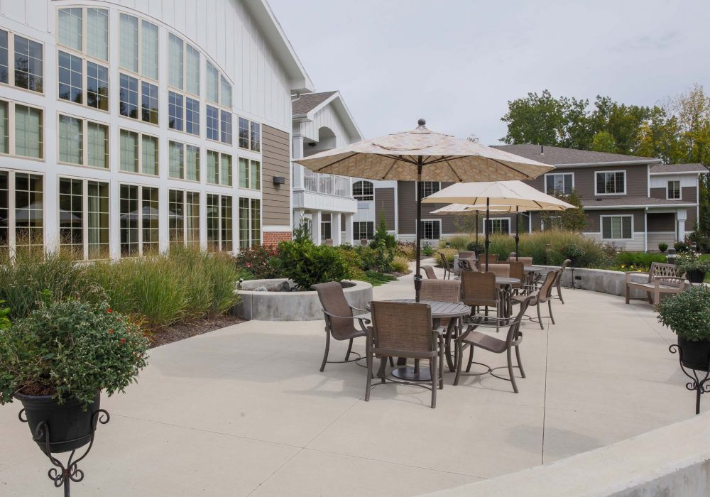 Patio at The Village at Mill Landing