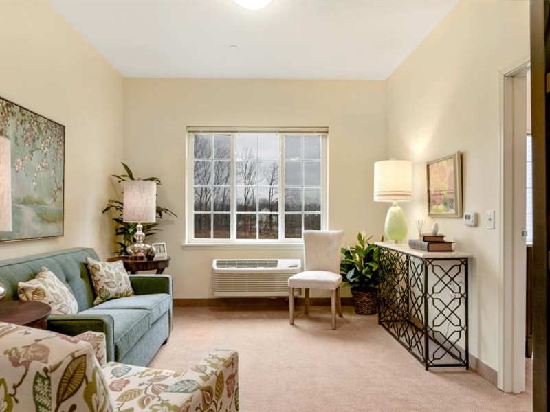 One bedroom living room  at The Landing of Towamencin
