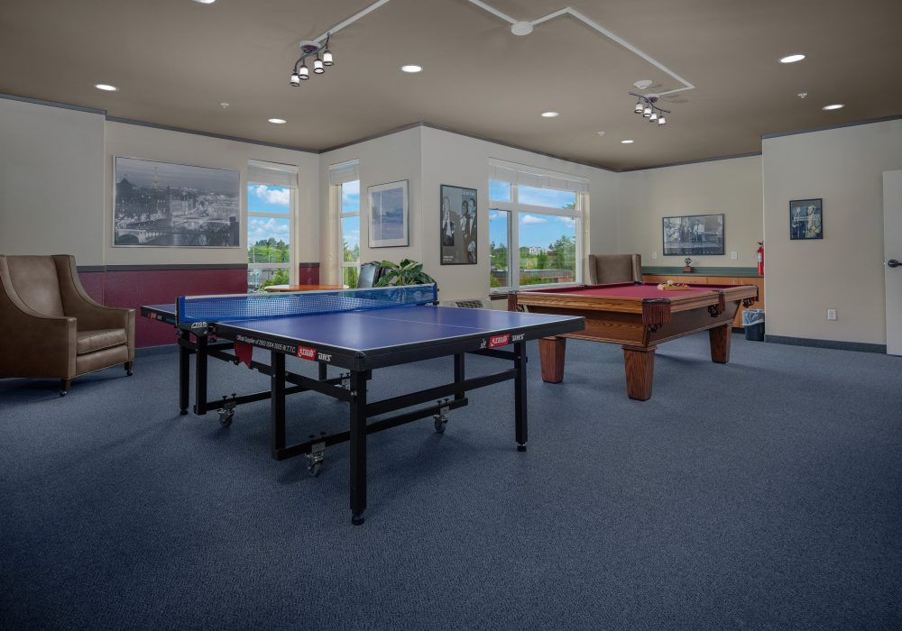 Pool and Ping Pong room at Russellville Park