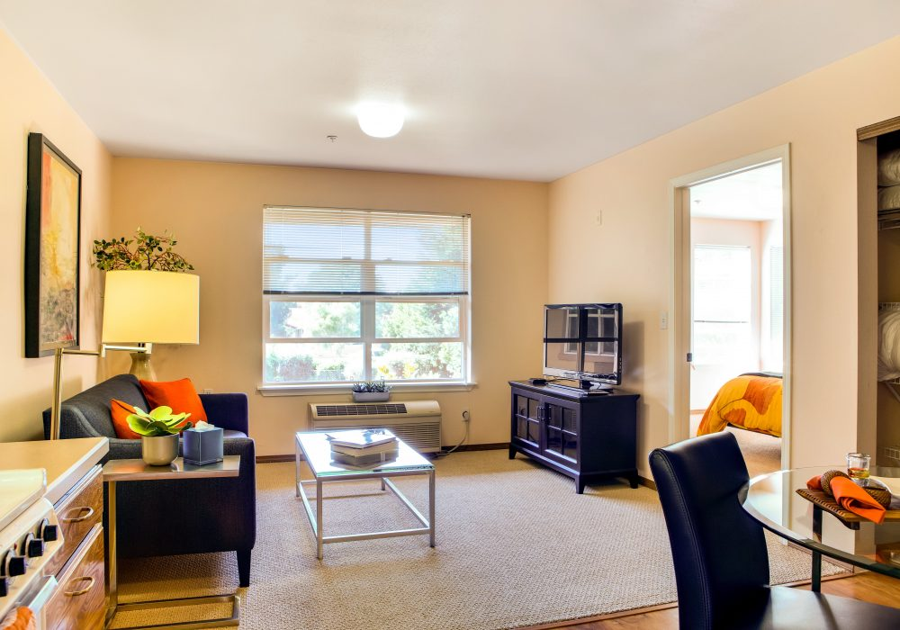 Living Room - Springfield Place Senior Apartments