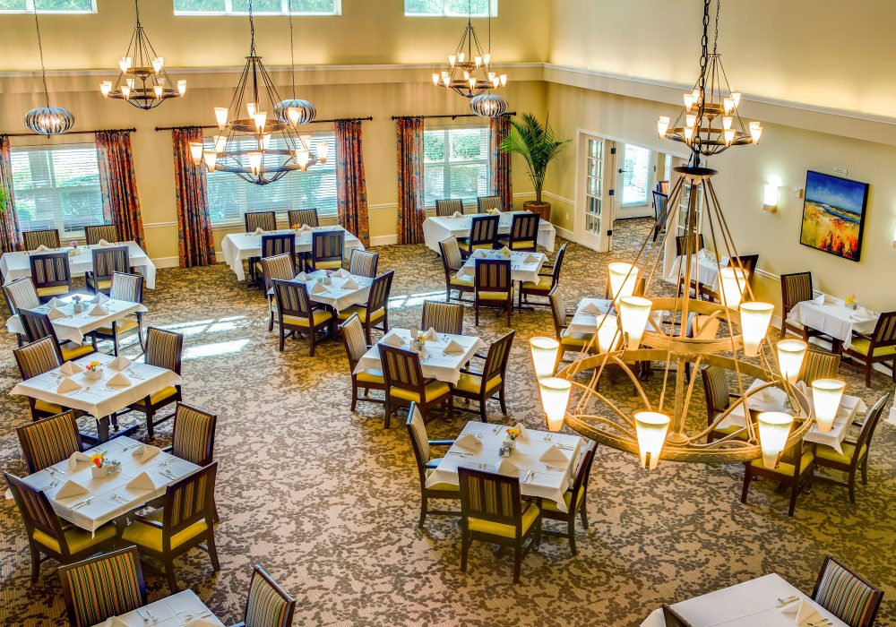 Aerial View of Dining Room - Springfield Place Senior Living