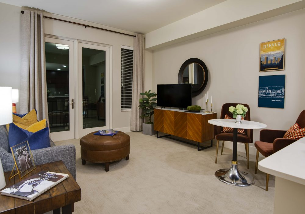 The Carillon at Belleview Station Apartment Living Room