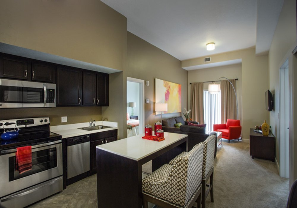 Kitchen and Dining Room - Treeo Senior Apartments in Orem