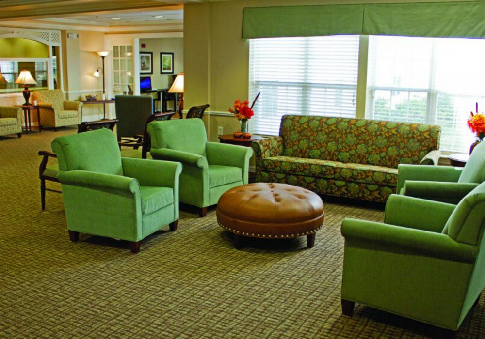 Lobby at The Linden at Woodbridge