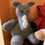 Knit Rhino Donated for Hospice Care