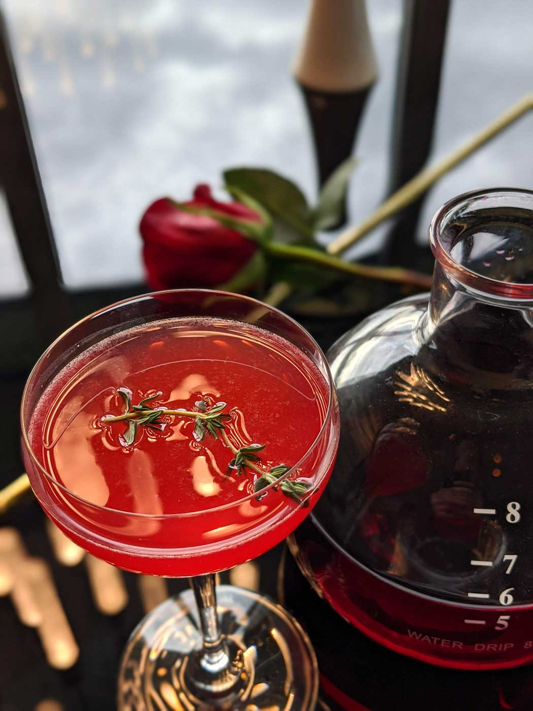 Kissing Thyme cocktail- Happy Valentine's day